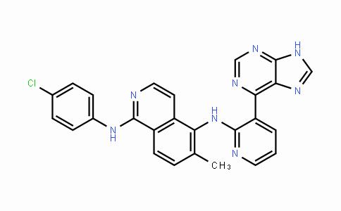 1093100-40-3 | N1-(4-氯苯基)-6-甲基-N5-[3-(9H-嘌呤-6-基)-2-吡啶基]-1,5-异喹啉二胺