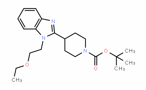 1181267-36-6 | Tert-Butyl 4-(1-(2-ethoxyethyl)-1H-benzo[d]imidazol-2-yl)piperidine-1-carboxylate