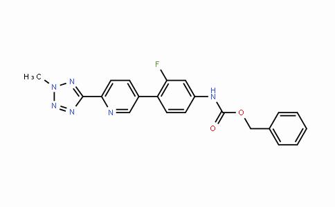 1220910-89-3 | benzyl (3-fluoro-4-(6-(2-methyl-2H-tetrazol-5-yl)pyridin-3-yl) phenyl)carbamate