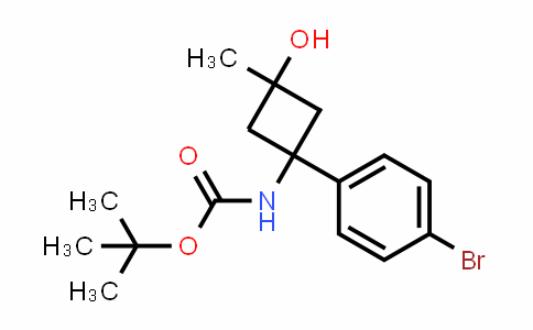 MC456792 | 1247898-38-9 | Tert-butyl (1r,3r)-1-(4-bromophenyl)-3-hydroxy-3-methylcyclobutylcarbamate
