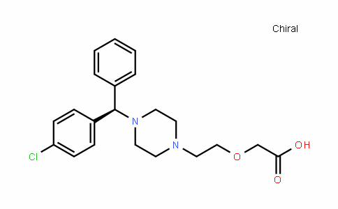 MC454368 | 130018-77-8 | 2-[2-[4-[(R)-(4-chlorophenyl)-phenylmethyl]piperazin-1-yl]ethoxy]acetic acid