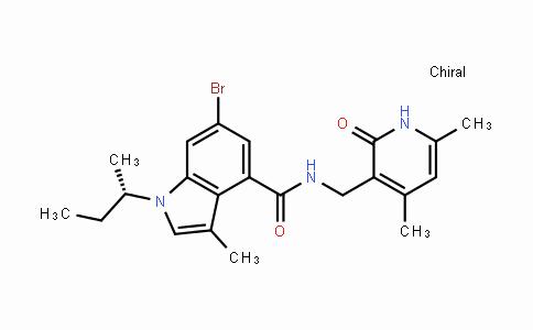 1346574-54-6 | (S)-6-bromo-1-sec-butyl-N-((4,6-dimethyl-2-oxo-1,2-dihydropyridin-3-yl)methyl)-3-methyl-1H-indole-4-carboxamide