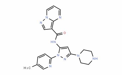 1401220-15-2 | N-(1-(5-Methylpyridin-2-yl)-3-(piperazin-1-yl)-1H-pyrazol-5-yl)pyrazolo[1,5-a]pyrimidine-3-carboxamide