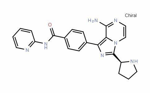 MC446813 | 1420478-90-5 | (S)-4-(8-Amino-3-pyrrolidin-2-yl-imidazo[1,5-a]pyrazin-1-yl)-N-pyridin-2-yl-benzamide