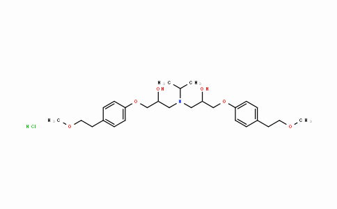 MC445491 | 1486464-40-7 | 3,3'-(isopropylazanediyl)bis(1-(4-(2-methoxyethyl)phenoxy)propan -2-ol) hydrochloride