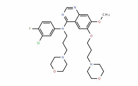 MC445590 | 1502829-45-9 | N-(3-chloro-4-fluorophenyl)-7-methoxy-6-(3-morpholinopropoxy)-N-(3-morpholinopropyl)quinazolin-4-amine