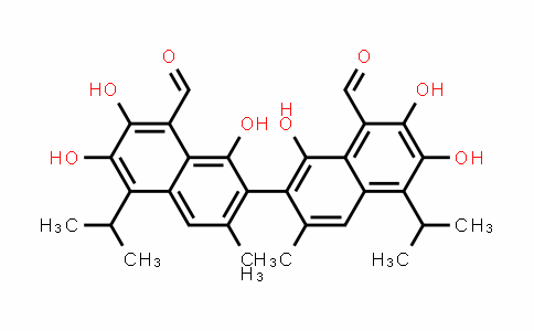 DY456773 | 20300-26-9 | 7-(8-Formyl-1,6,7-trihydroxy-3-methyl-5-propan-2-ylnaphthalen-2-yl)-2,3,8-trihydroxy-6-methyl-4-propan-2-ylnaphthalene-1-carbaldehyde