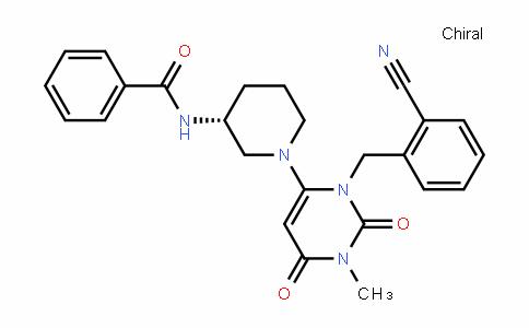 1618644-32-8 | (R)-N-(1-(3-(2-cyanobenzyl)-1-methyl-2,6-dioxo-1,2,3,6- tetrahydropyrimidin-4-yl)piperidin-3-yl)benzamide