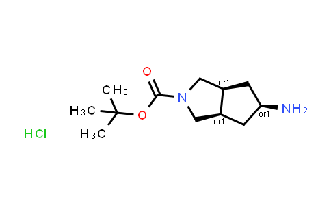 DY584126 | 1630907-13-9 | Tert-butyl rel-(3aR,5r,6aS)-5-amino-3,3a,4,5,6,6a-hexahydro-1H-cyclopenta[c]pyrrole-2-carboxylate;hydrochloride