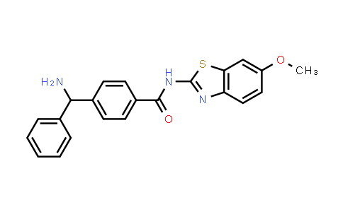 DY583890 | 1673556-40-5 | 4-[Amino(phenyl)methyl]-N-(6-methoxy-1,3-benzothiazol-2-yl)benzamide