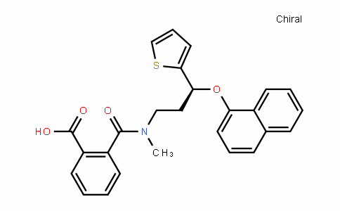 199191-67-8 | (S)-2-(methyl(3-(naphthalen-1-yloxy)-3-(thiophen-2-yl)propyl)carbamoyl)benzoic acid