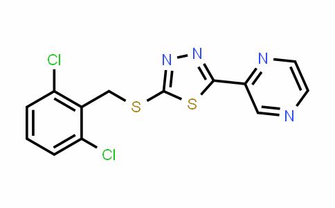 MC456788 | 448947-81-7 | 2 - [(2,6-二氯苯基)甲硫基] -5-(吡嗪-2-基)-1,3,4-噻二唑