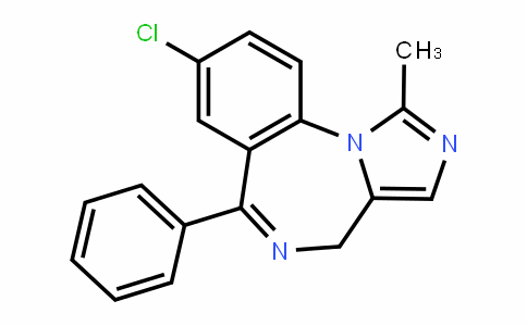59467-86-6 | 8-chloro-1-methyl-6-phenyl-4H-benzo[f]imidazo[1,5-a][1,4] diazepine