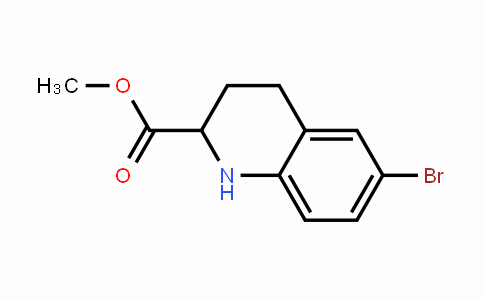 MC445448 | 773033-36-6 | 6-Bromo-1,2,3,4-tetrahydro-2-quinolinecarboxylic acid methyl ester