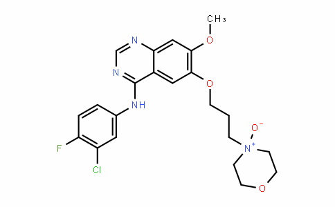 MC445593 | 847949-51-3 | 4-(3-((4-((3-chloro-4-fluorophenyl)amino)-7-methoxyquinazolin-6-yl)oxy)propyl)morpholine 4-oxide