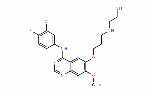 MC445589 | 847949-56-8 | 2-((3-((4-((3-chloro-4-fluorophenyl)amino)-7-methoxyquinazolin-6-yl)oxy)propyl)amino)ethan-1-ol