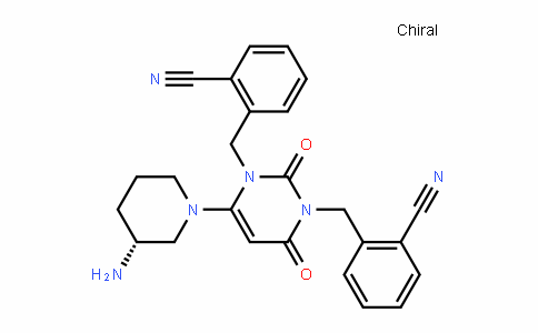 865759-10-0 | (R)-2,2'-((6-(3-aminopiperidin-1-yl)-2,4-dioxopyrimidine-1, 3(2H,4H)-diyl)bis(methylene))dibenzonitrile