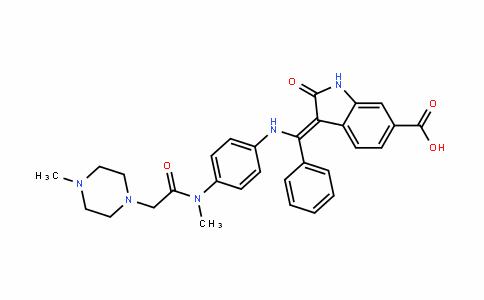894783-71-2 | (Z)-3-(((4-(N-methyl-2-(4-methylpiperazin-1-yl)acetamido)phenyl)amino)(phenyl)methylene)-2-oxoindoline-6-carboxylic acid