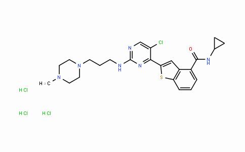 946518-60-1 | 2-[5-氯-2-[[3-(4-甲基-1-哌嗪基)丙基]氨基]-4-嘧啶基]-N-环丙基-苯并[B]噻吩-4-甲酰胺三盐酸盐