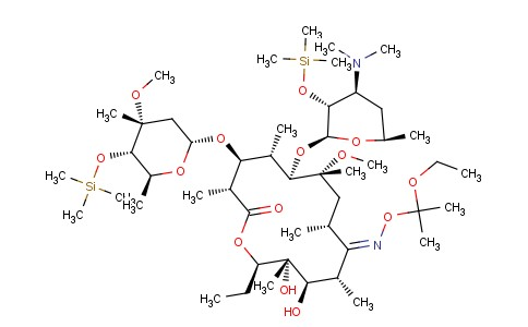 CS11502 | 119665-62-2 | 6-O-Methyl-2',4''-bis-O-(trimethylsilyl)-9-[O-(1-ethoxy-1-methylethyl)oxime]-Erythromycin