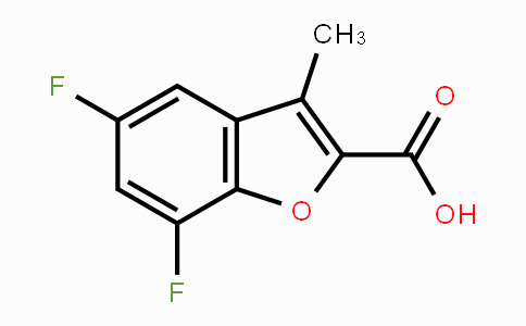MC107729 | 1019111-84-2 | 5,7-Difluoro-3-methyl-1-benzofuran-2-carboxylic acid