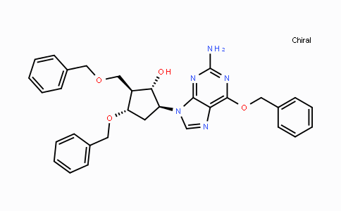 MC113524 | 142217-77-4 | (1S,2S,3S,5S)-5-(2-Amino-6-(benzyloxy)-9H-purin-9-yl)-3-(benzyloxy)-2-(benzyloxymethyl)cyclopentanol