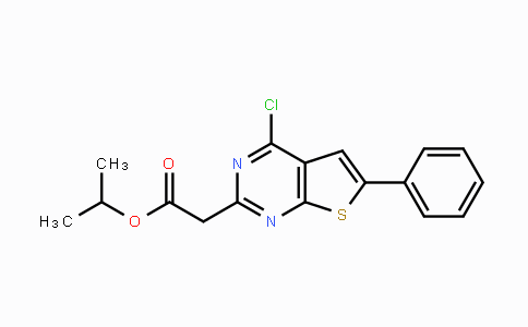 MC113767 | 885460-48-0 | Isopropyl 2-(4-chloro-6-phenylthieno-[2,3-d]pyrimidin-2-yl)acetate