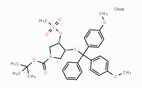 DY31204 | 849674-11-9 | (3R,4S)-tert-Butyl 3-(bis(4-Methoxyphenyl)(phenyl)Methoxy)-4-((Methylsulfonyl)oxy)pyrrolidine-1-carboxylate