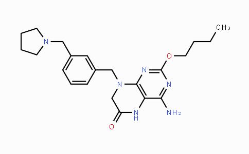 DY425426 | 1228585-88-3 | 4-Amino-2-butoxy-8-[[3-(pyrrolidin-1-ylmethyl)phenyl]methyl]-5,7-dihydropteridin-6-one
