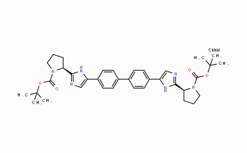 DY425825 | 1007882-23-6 | di-tert-butyl (2S,2'S)-2,2'-(4,4'-biphenyldiylbis(1H-imidazole-5,2-diyl))di(1-pyrrolidinecarboxylate)