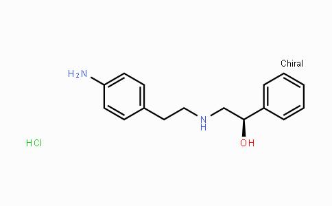 (1R)-2-{[2-(4-Aminophenyl)ethyl]amino}-1-phenylethanol hydrochlor ide (1:1)