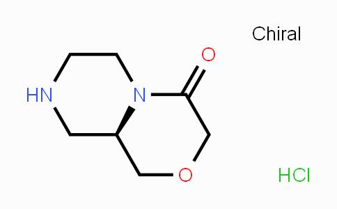 1383427-89-1 | Pyrazino[2,1-c][1,4]oxazin-4(3H)-one, hexahydro-, hydrochloride (1:1), (9aR)-