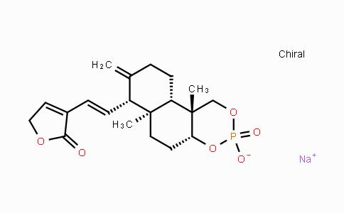 824933-94-0 | sodium (4aR,6aR,7R,10aS,10bR)-6a,10b-dimethyl-8-methylene-7-((E)-2-(2-oxo-2,5-dihydrofuran-3-yl)vinyl)decahydro-1H-naphtho[2,1-d][1,3,2]dioxaphosphinin-3-olate 3-oxide