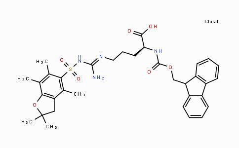 DY428360 | 154445-77-9 | Nα-[(9H-フルオレン-9-イルメトキシ)カルボニル]-Nω-(2,2,4,6,7-ペンタメチルジヒドロベンゾフラン-5-スルホニル)-L-アルギニン