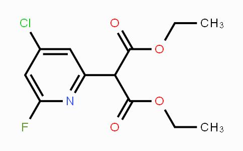 Diethyl 2-(4-chloro-6-fluoropyridin-2-yl)malonate