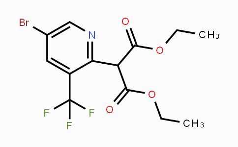 Diethyl 2-(5-bromo-3-(trifluoromethyl)pyridin-2-yl)malonate