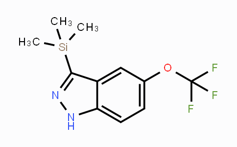 DY430743 | 5-Trifluoromethoxy-3-trimethylsilanyl-1H-indazole