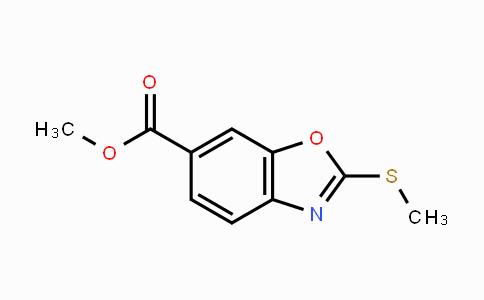 1160490-11-8 | 2-Methylsulfanyl-benzooxazole-6-carboxylic acid methyl ester