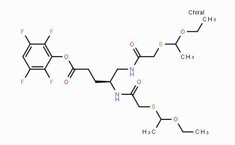 125488-70-2 | (4S)-4,5-Bis-[2-((RS)-1-ethoxy-ethylsulfanyl)-acetamido]-pentanoic acid-2,3,5,6-tetrafluoro-phenyl ester
