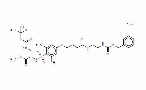 277316-24-2 | [2,6-Dimethyl-4-(3-[2-(Z-amino)-ethylcarbamoyl]-propoxy)-benzenesulfonyl]-Dap(Boc)-OMe