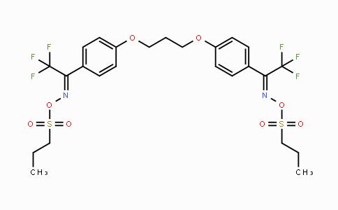 300374-81-6 | Ethanone,1,1'-(1,3-propanediylbis(oxy-4,1-phenylene))bis(2,2,2-trifluoro-,1,1'-bis(O-(propylsulfonyl)oxime)