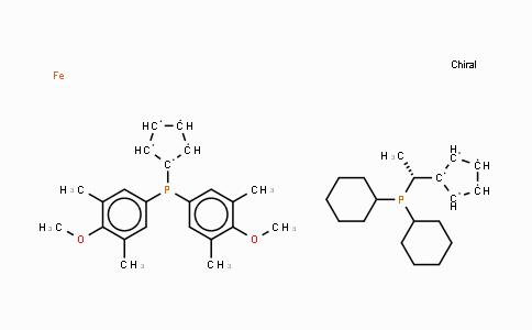 360048-63-1 | (R)-(-)-1-{(S)-2-[Bis(3,5-dimethyl-4-methoxyphenyl)phosphino]ferrocenyl}ethyldicyclohexylphosphine