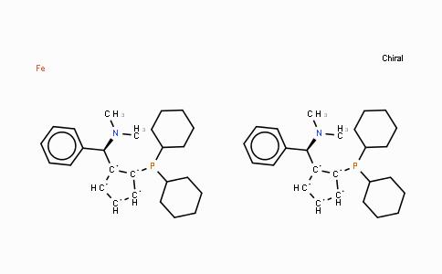 494227-35-9 | (S,S)-(+)-2,2'-Bis[(R)-(N,N-dimethylamino)(phenyl)methyl]-1,1'-bis(dicyclohexylphosphino) ferrocene
