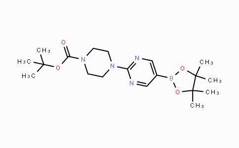 940284-98-0 | tert-butyl 4-(5-(4,4,5,5-tetramethyl-1,3,2-dioxaborolan-2-yl)pyrimidin-2-yl)piperazine-1-carboxylate