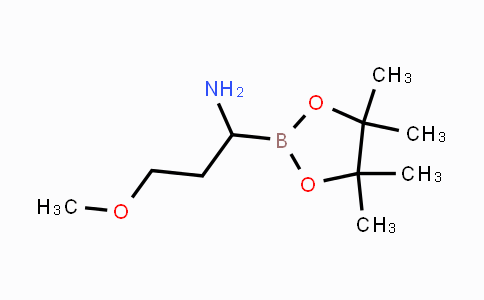 1073513-60-6 | 3-methoxy-1-(4,4,5,5-tetramethyl-1,3,2-dioxaborolan-2-yl)propan-1-amine