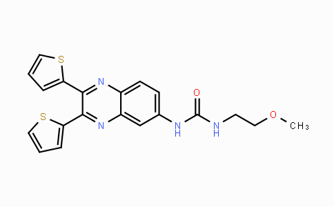 MC442725 | 508186-14-9 | 1-(2,3-di(thiophen-2-yl)quinoxalin-6-yl)-3-(2-methoxyethyl)urea