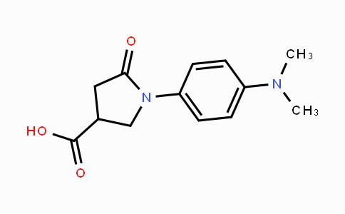 346644-26-6   1-(4-(dimethylamino)phenyl)-5-oxopyrrolidine-3-carboxylic acid