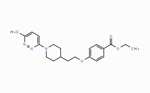 124436-59-5   ethyl 4-(2-(1-(6-methylpyridazin-3-yl)piperidin-4-yl)ethoxy)benzoate