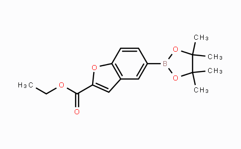 736989-87-0 | ethyl 5-(4,4,5,5-tetramethyl-1,3,2-dioxaborolan-2-yl)benzofuran-2-carboxylate