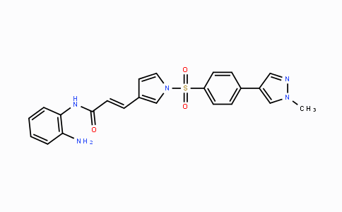 1186222-89-8 | (E)-N-(2-aminophenyl)-3-(1-((4-(1-methyl-1H-pyrazol-4-yl)phenyl)sulfonyl)-1H-pyrrol-3-yl)acrylamide
